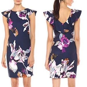 Trina Turk NWT $168 Floral Flutter Sleeve Dress